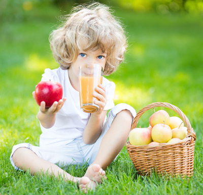 Child Drinking Fruit Juice